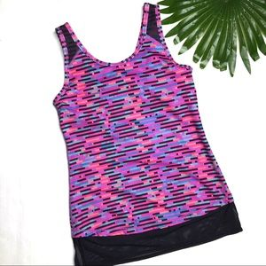 IVIVVA | sz 14 (girls) geo print tank built in bra